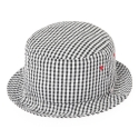 드라이프(DRIFE) SEERSUCKER BUCKET HAT-GINGHAM BLACK
