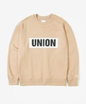 레이어 유니온(LAYER UNION) UNION PATCH SWEATSHIRTS BEIGE