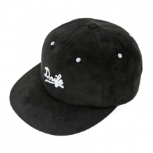 SUEDE 6 PANEL CAP-BLACK