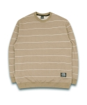 필루미네이트(FILLUMINATE) UNISEX Thin Border Sweat Shirt-Beige