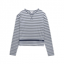 [Tea Please] One Point Stripe L/S Tee(Grey)
