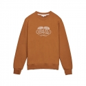화이트블랭크레이블(WHITE BLANK LABEL) [Tea Please] Basic Sweatshirts(Brown)
