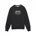 화이트블랭크레이블(WHITE BLANK LABEL) [Tea Please] Basic Sweatshirts(Black)