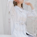 블레어 바이 스퀘어(BLAIR BY SQUARE) Stripe Robe Jacket