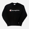 챔피온(CHAMPION) BASIC LOGO CREWNECK (BLACK)