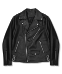 Pocket Leather Rider Jacket