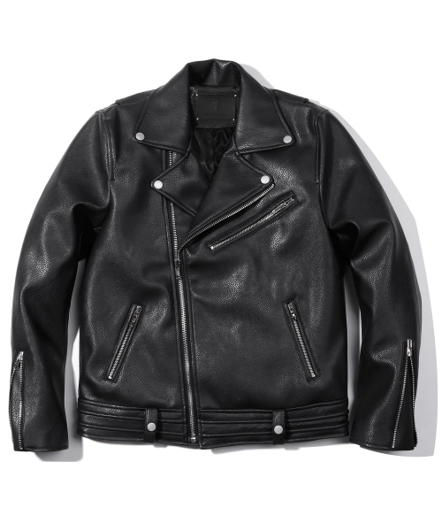 헤비스모커(HEAVYSMOKER) Zipper Leather Rider Jacket