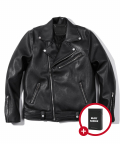 헤비스모커(HEAVYSMOKER) [사은품증정] Zipper Leather Rider Jacket