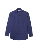 비앙쉬르(BIENSUR) STITCH OPEN COLLAR SHIRT