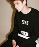 주스토(JUSTO) ONEPERSONSWEATSHIRTS[BLACK]