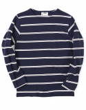아웃스탠딩(OUTSTANDING) WAGNER BORDER L-SLEEVE [NAVY/WHITE]
