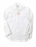 아웃스탠딩(OUTSTANDING) HBT WIDE COLLAR WORK SHIRTS [WHITE]