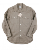 아웃스탠딩(OUTSTANDING) HBT WIDE COLLAR WORK SHIRTS [BEIGE]