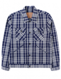 아웃스탠딩(OUTSTANDING) INDIGO CHECK JACKET [INDIGO]
