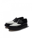 조지콕스() [조지콕스] GEORGE COX / DOUBLE SLIP ON CREEPER / BLACK WHITE