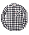 러기드하우스(RUGGED HOUSE) FLOW OUTPOCKET CHECK SHIRTS 화이트