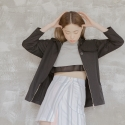 블레어 바이 스퀘어(BLAIR BY SQUARE) Wrap Skirt (Stripe)