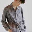 Stripe Poly Shirt (Grey)