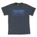 쓰레셔(THRASHER) Flame Tee - Dark Heather