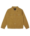 바스틱(VASTIC) Vastic Cotton Trucker Jacket Brown