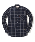러기드하우스(RUGGED HOUSE) CHINA COLLAR CHECK SHIRTS