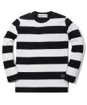 러기드하우스(RUGGED HOUSE) WASHING STRIPE T-SHIRTS 블랙