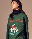 살롱드서울(SALON DE SEOUL) Unisex Signature Sweat Shirt (DARK GREEN)