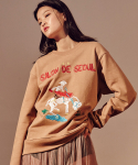 살롱드서울(SALON DE SEOUL) Unisex Signature Sweat Shirt (BEIGE)