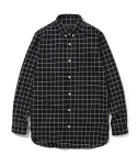 유니폼브릿지(UNIFORM BRIDGE) 16aw check long shirts black