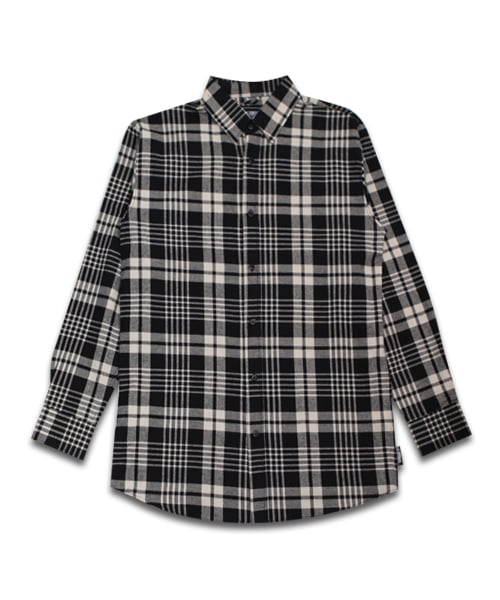 필루미네이트_UNISEX Long Check Shirt-Ivory