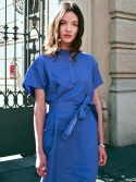 앤오와이비(NOYB) Belted Long Shirt Dress