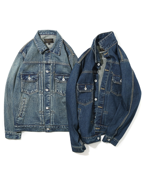 유니폼브릿지(UNIFORM BRIDGE) 16aw type2 washing denim jacket