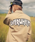 언아웃핏(AOTT) UNISEX OVERWHELM DECK COTTON TRUCKER JACKET BEIGE AO-05