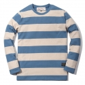러기드하우스(RUGGED HOUSE) WASHING STRIPE T-SHIRTS 블루