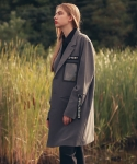 언아웃핏() UNISEX LIMPID POCKET COAT GREY AO-03