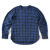 비슬로우(beslow) 16FW COLLARLESS SHIRT BLUE CHECK