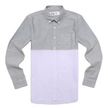 SPORT B.D SHIRTS-GREY/PURPLE