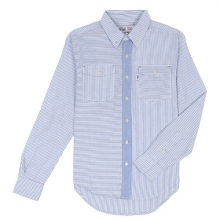 STRIPE OXFORD SHIRTS-BLUE