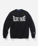 블루야드(BLUE YARD) COLLEGE LOGO CREWNECK BLACK