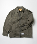 크리틱(CRITIC) HBT FULL ZIP TRUCKER JACKET(OLIVE GREEN)_CMOSAJK02MG4