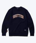 셔터(SHUTTER) SHUTTER ARCH COLOR SWEAT SHIRTS (DARK NAVY)