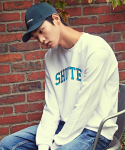 셔터(SHUTTER) SHUTTER ARCH COLOR SWEAT SHIRTS (WHITE)