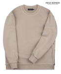 피스워커() Vintage heavy Sweat shirt side zipper -  Beige