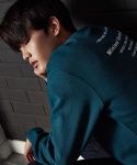 셔터(SHUTTER) SHUTTER SLOGAN SWEAT SHIRTS (GREEN)