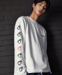 셔터(SHUTTER) SHUTTER ARTWORK LONG SLEEVE T-SHIRTS (WHITE)