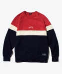 셔터(SHUTTER) SHUTTER RAGLAN BLOCK SWEAT SHIRTS (RED)