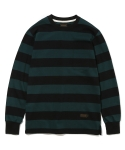 유니폼브릿지(UNIFORM BRIDGE) 16aw L/S stripe block tee green/black