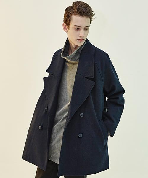 디바이디그낙(DBYDGNAK) Oversize Pea Coat (NA)