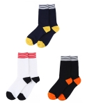 [3개 SET] STARDUST striped rib socks 3P