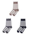 [3개 SET] SOLITUDE asymmetric stripe socks 3P